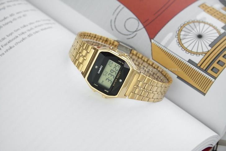 Đồng hồ Casio A159WGED-1DF rẻ, thay pin trọn đời miễn phí - Ảnh 1
