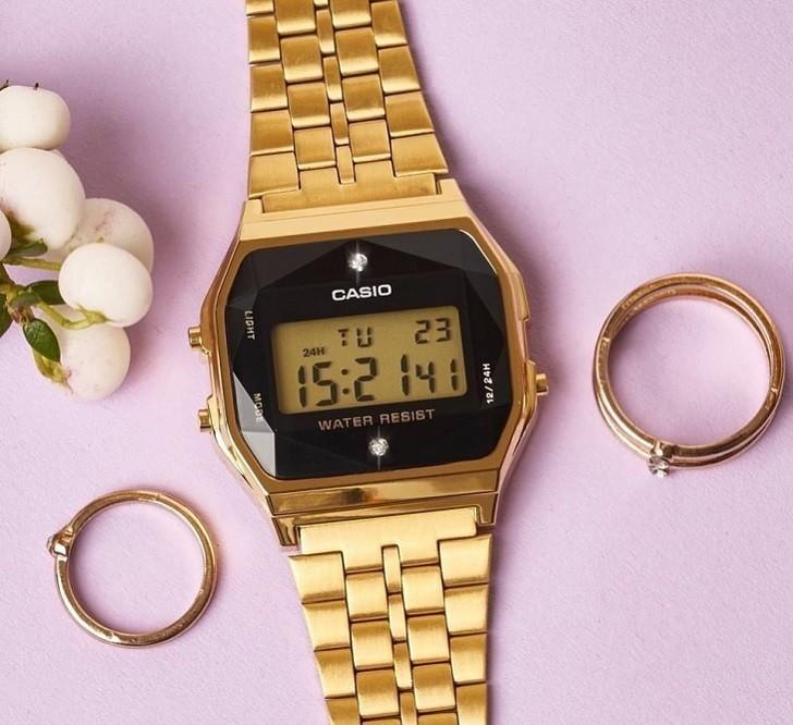 Đồng hồ Casio A159WGED-1DF rẻ, thay pin trọn đời miễn phí - Ảnh 6