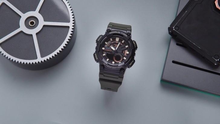 Đồng hồ Casio AEQ-110W-3AVDF sở hữu thời lượng pin ấn tượng - Ảnh 1
