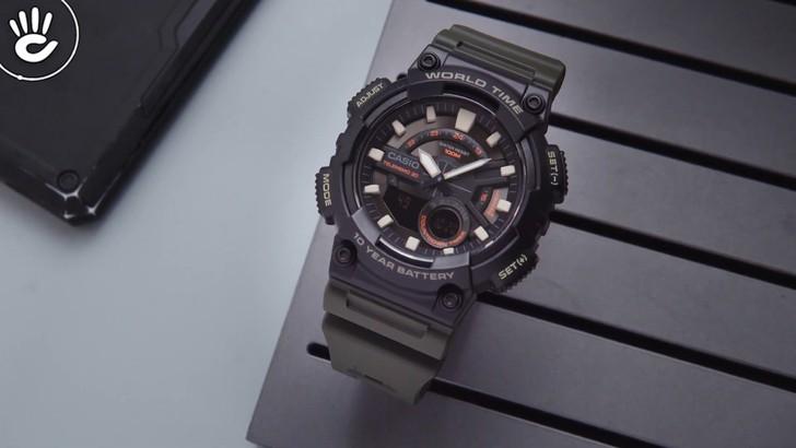 Đồng hồ Casio AEQ-110W-3AVDF sở hữu thời lượng pin ấn tượng - Ảnh 5