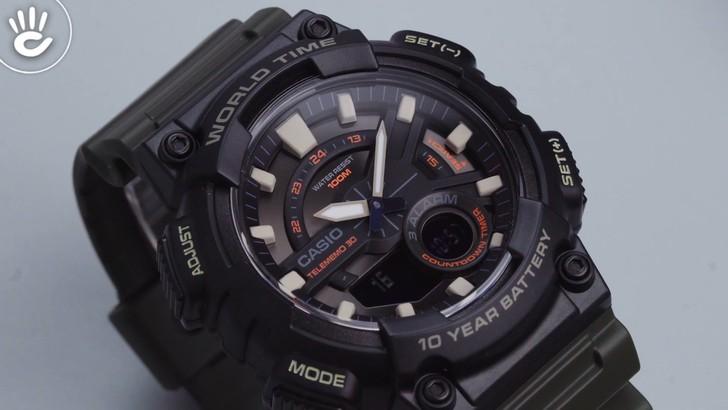 Đồng hồ Casio AEQ-110W-3AVDF sở hữu thời lượng pin ấn tượng - Ảnh 2