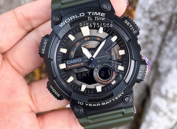 Đồng hồ Casio AEQ-110W-3AVDF sở hữu thời lượng pin ấn tượng - Ảnh 3