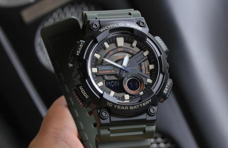 Đồng hồ Casio AEQ-110W-3AVDF sở hữu thời lượng pin ấn tượng - Ảnh 4