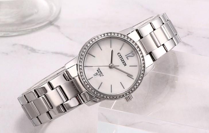 Đồng hồ nữ Citizen EU6063-81D giá rẻ, thay pin miễn phí - Ảnh 1