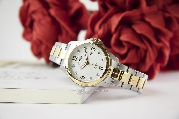 Đồng hồ nữ Citizen EU6084-57A giá rẻ, thay pin miễn phí - Ảnh 1