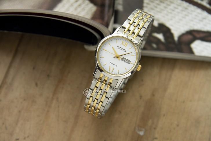 Đồng hồ Citizen EW3254-87A thời trang, dây demi sang trọng - Ảnh 1