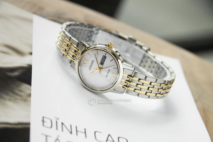Đồng hồ Citizen EW3254-87A thời trang, dây demi sang trọng - Ảnh 6