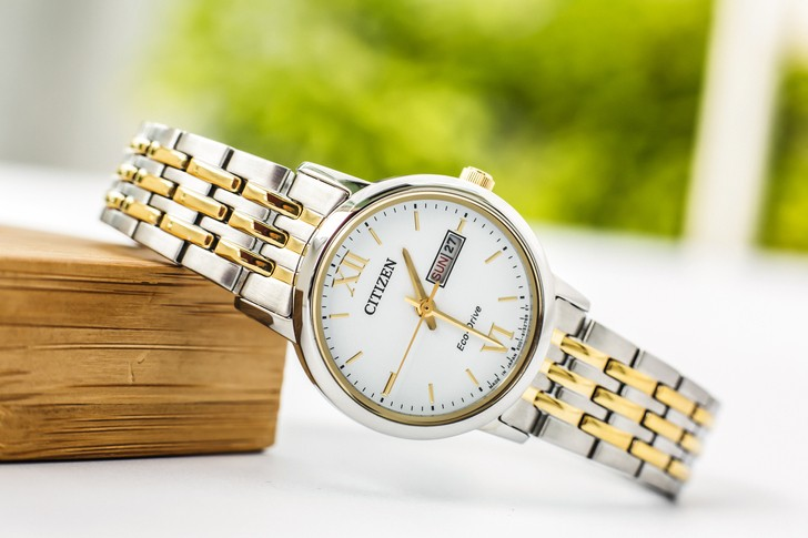 Đồng hồ Citizen EW3254-87A thời trang, dây demi sang trọng - Ảnh 3