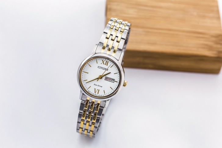 Đồng hồ Citizen EW3254-87A thời trang, dây demi sang trọng - Ảnh 2