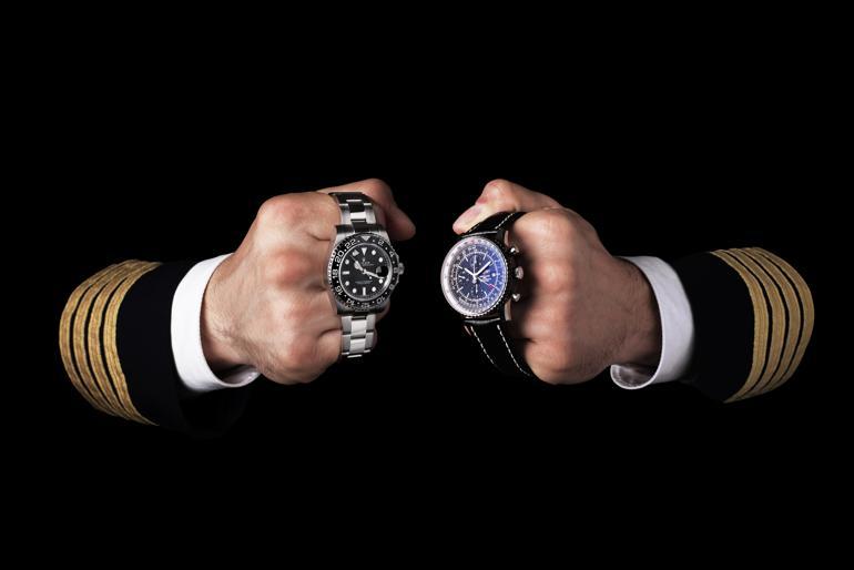 Đồng Hồ GMT Là Gì? Cách Xem Và Sử Dụng Đồng Hồ Có GMT Rolex GMT Master Breitling Navitimer