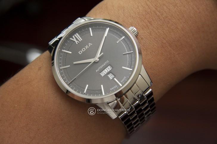 Đồng hồ nam Doxa D206SGY kính sapphire chống trầy cao cấp - Ảnh 2