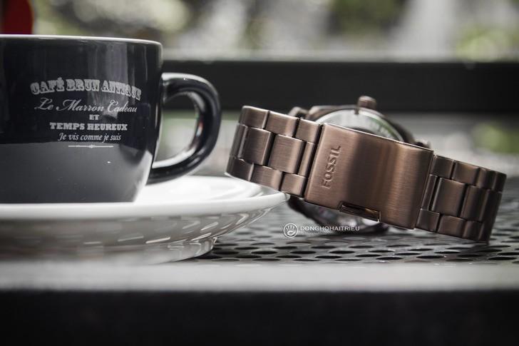 Đồng hồ Fossil FS5370 thiết kế thời trang, màu nâu ấn tượng - Ảnh 4
