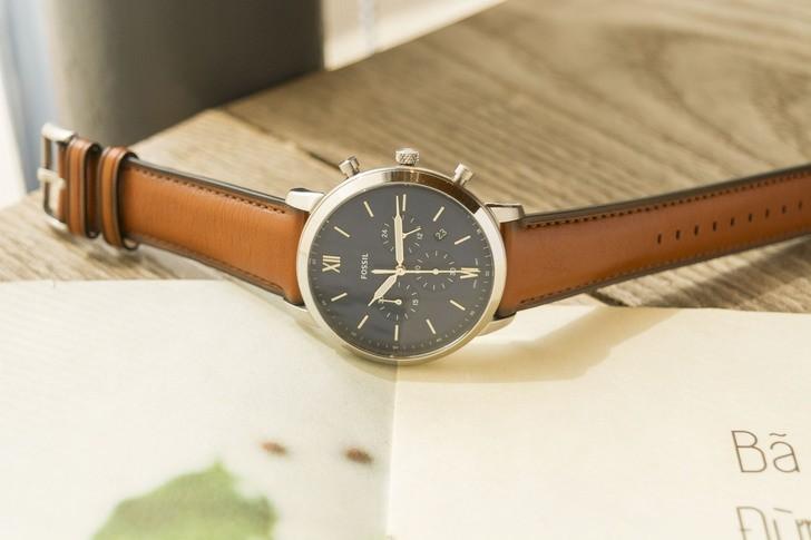 Đồng hồ Fossil FS5453 thiết kế thời trang, có Chronograph - Ảnh 1