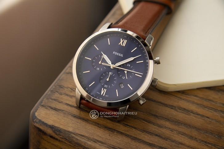 Đồng hồ Fossil FS5453 thiết kế thời trang, có Chronograph - Ảnh 3