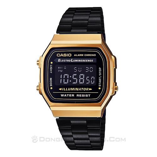 Cập Nhật Thiết Kế Và Giá Bán Dòng Đồng Hồ Casio A168 Điện Tử - Casio A168WEGB-1BDF
