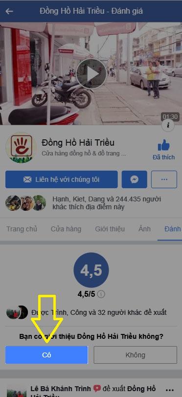 Đăng Ký Fanpage Đồng Hồ Hải Triều Computer