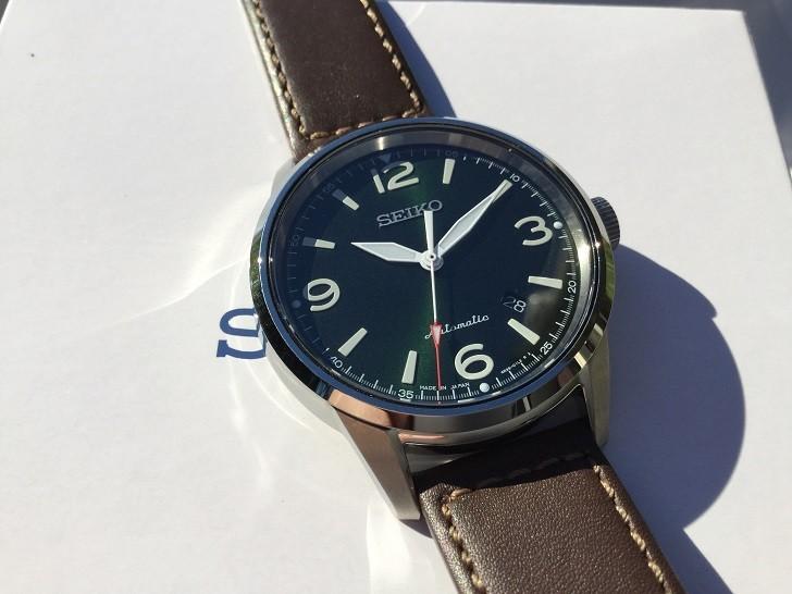 Đồng hồ cơ Seiko SRPB05J1 phong cách quân đội mạnh mẽ - Ảnh 3
