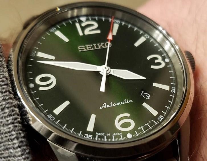 Đồng hồ cơ Seiko SRPB05J1 phong cách quân đội mạnh mẽ - Ảnh 4