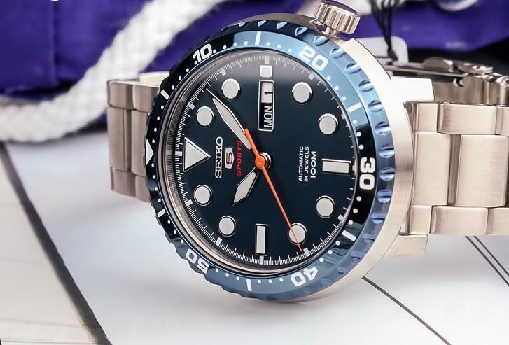 Đồng hồ Seiko SRPC63K1 chống nước 10ATM, thoải mái bơi lội - Ảnh 3
