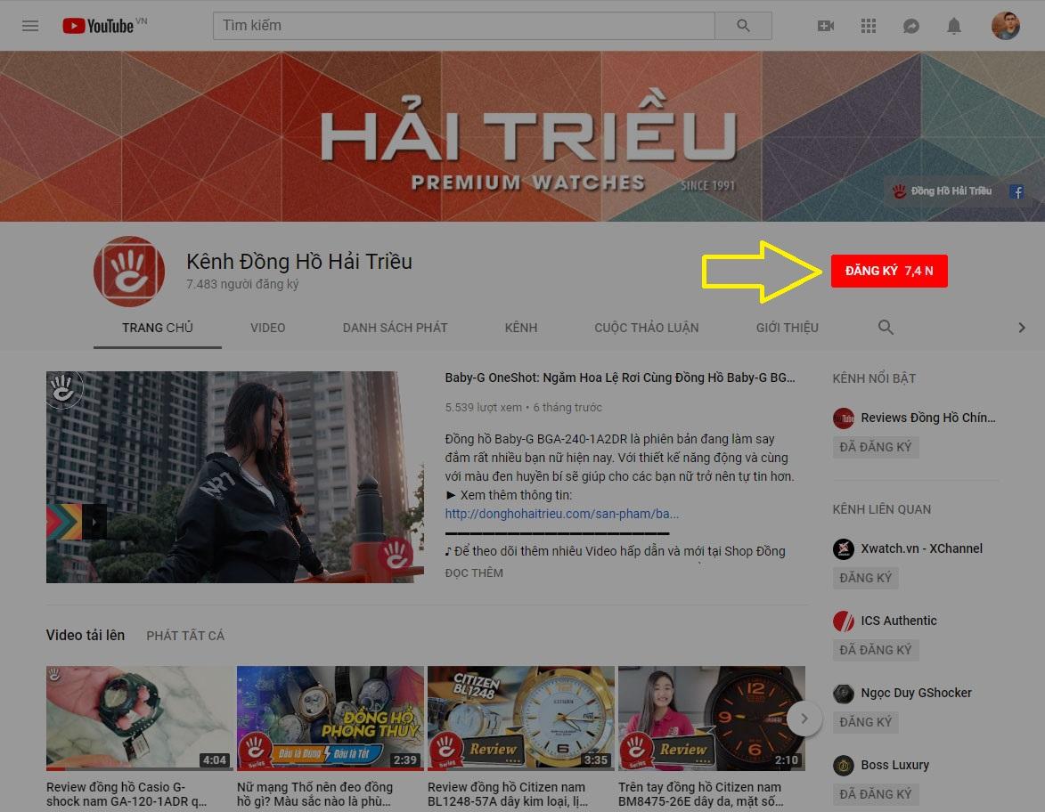 Đăng Ký Kênh Youtube Đồng Hồ Hải Triều Computer