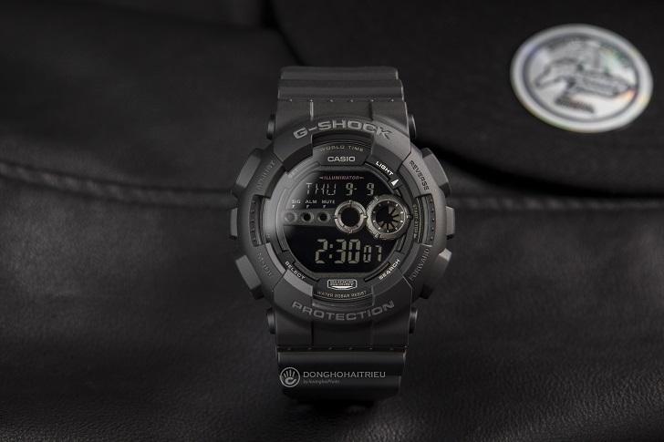Casio G-Shock GD-100-1BDR Trọn Tông Đen Cho Anh Chàng Cá Tính 4