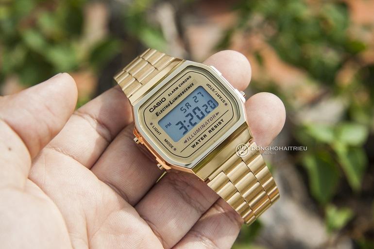 Chiêm Ngưỡng Hàng Loạt Mẫu Đồng Hồ Casio Vintage Gold Giá Rẻ - Casio A168WG-9WDF