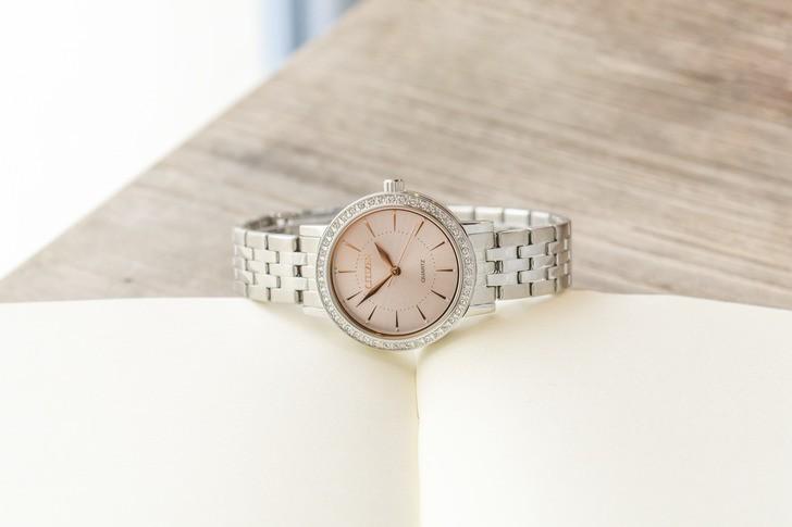 Đồng hồ Citizen EL3041-87X 100% máy Nhật, siêu mỏng 7mm - Ảnh 2