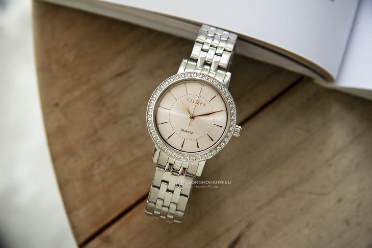 Đồng hồ Citizen EL3041-87X 100% máy Nhật, siêu mỏng 7mm - Ảnh 3