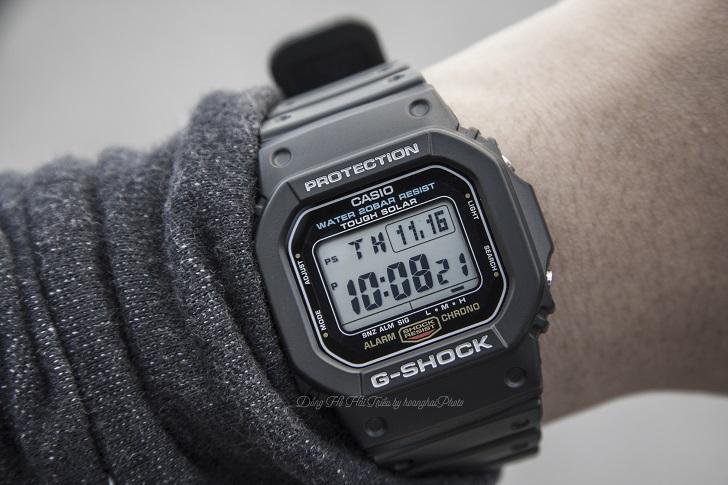 """Đồng Hồ Casio G-Shock G-5600E-1DR: Thiết Kế Nhỏ, Chức Năng """"To"""" 5"""