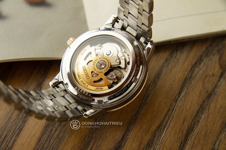 Đồng hồ Seiko SRPC06J1 máy cơ, dây kim loại demi sang trọng - Ảnh 2
