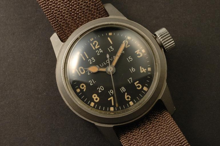 6 mẫu đồng hồ quân đội Mỹ đã dùng trong chiến tranh Việt Nam BULOVA MIL-W-3818A 1958-1962