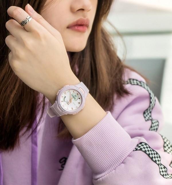 Đồng hồ nữ thể thao Baby-G BSA-B100-4A2DR sắc hồng cá tính - Ảnh 1