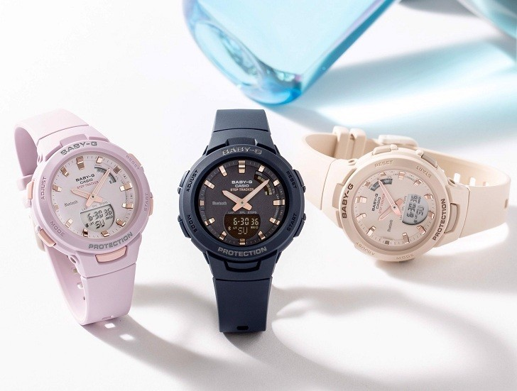 Đồng hồ nữ thể thao Baby-G BSA-B100-4A2DR sắc hồng cá tính - Ảnh 2