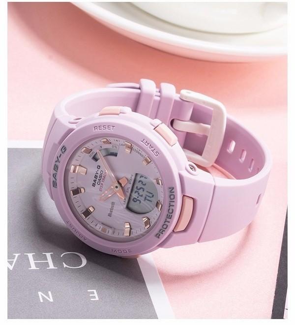 Đồng hồ nữ thể thao Baby-G BSA-B100-4A2DR sắc hồng cá tính - Ảnh 3