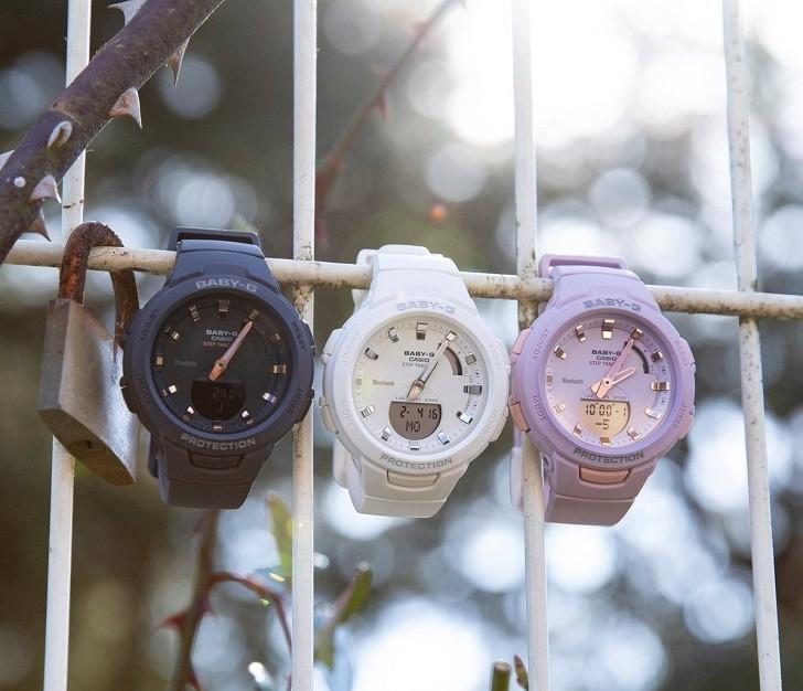 Đồng hồ nữ thể thao Baby-G BSA-B100-4A2DR sắc hồng cá tính - Ảnh 4