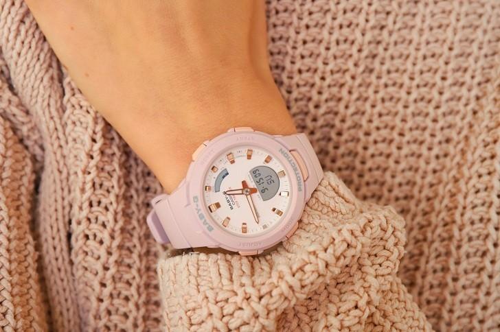 Đồng hồ nữ thể thao Baby-G BSA-B100-4A2DR sắc hồng cá tính - Ảnh 5