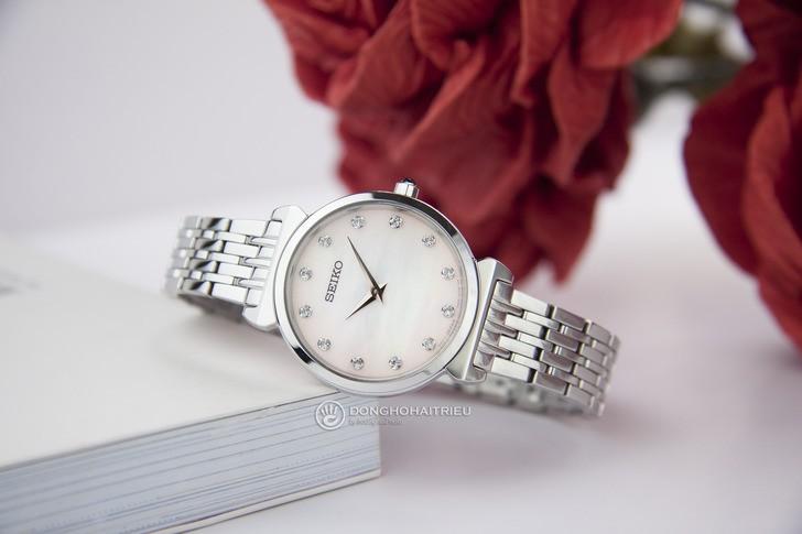 Đồng hồ Seiko SFQ803P1 thời trang, đính đá pha lê sang trọng - Ảnh 1