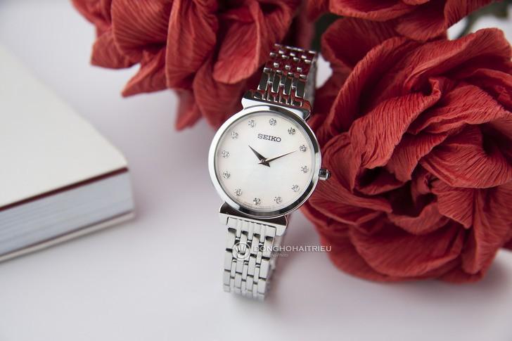 Đồng hồ Seiko SFQ803P1 thời trang, đính đá pha lê sang trọng - Ảnh 6