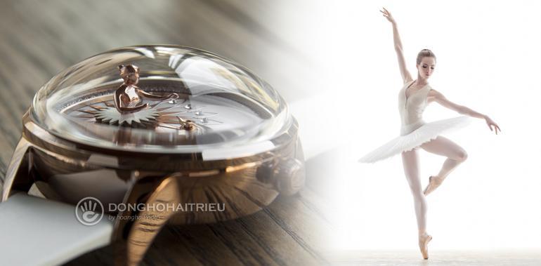 Đồng hồ ba lê Fouetté Ballerina, một kiệt tác đoạt giải thiết kế Fouetté OR-LOVE
