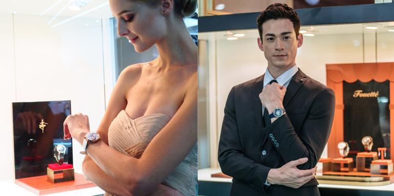 Đồng hồ ba lê Fouetté Ballerina, một kiệt tác đoạt giải thiết kế Fouetté OR-LOVE (trên tay nữ) và Fouetté OR-STAR (trên tay nam)