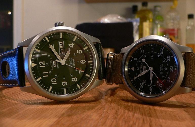 So sánh: đồng hồ Seiko 5 automatic 21 jewels và 23 jewels SNZG09 SNK809