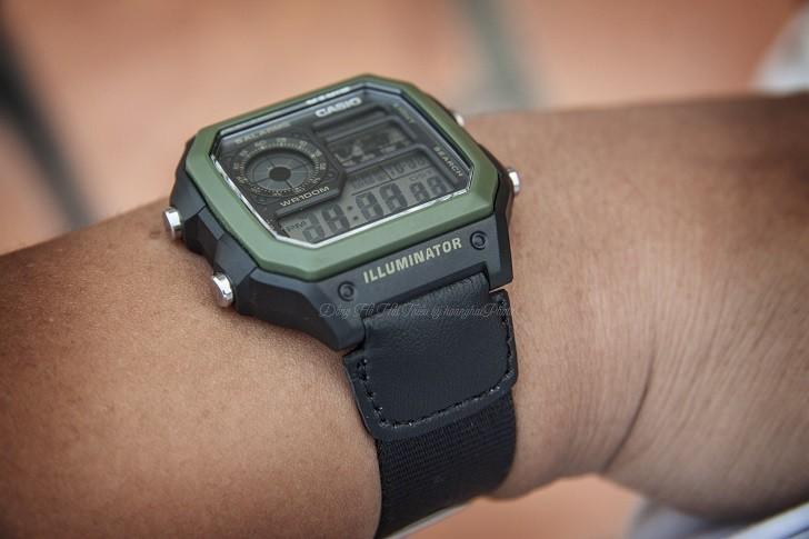 Đồng hồ Casio AE-1200WHB-1BVDF quân đội, hơn 10 tính năng - Ảnh 2