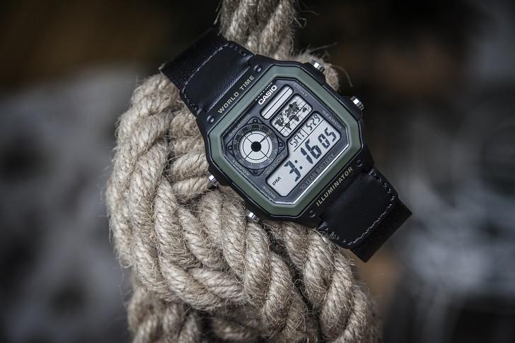 Đồng hồ Casio AE-1200WHB-1BVDF quân đội, hơn 10 tính năng - Ảnh 4