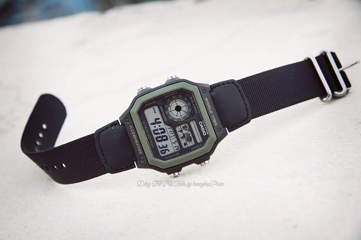 Đồng hồ Casio AE-1200WHB-1BVDF quân đội, hơn 10 tính năng - Ảnh 5