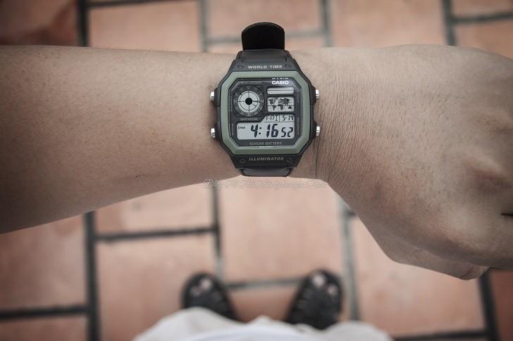 Đồng hồ Casio AE-1200WHB-1BVDF quân đội, hơn 10 tính năng - Ảnh 6