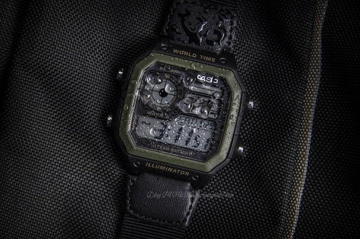 Đồng hồ Casio AE-1200WHB-1BVDF quân đội, hơn 10 tính năng - Ảnh 7