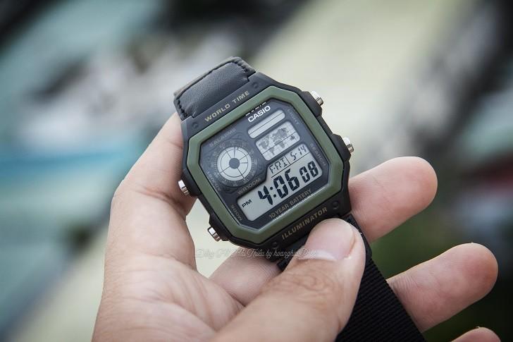 Đồng hồ Casio AE-1200WHB-1BVDF quân đội, hơn 10 tính năng - Ảnh 8