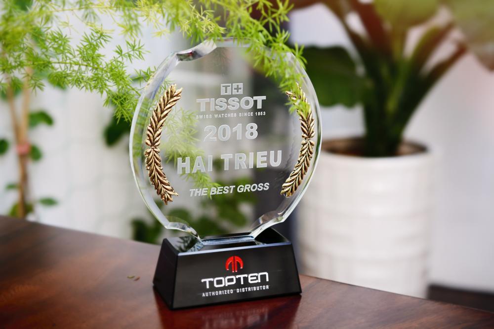 Chứng Nhận Đại Lý Chính Hãng & Các Giải Thường Đồng Hồ Hải Triều Đã Đạt Được - Top 1 Đại lý Tissot 2018