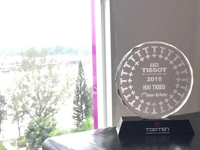Đồng Hồ Hải Triều Nhận Giải Top 1 Đại Lý Đồng Hồ Tissot 2018 - Top 2 Đại lý Tissot 2016