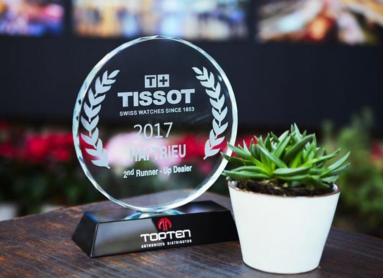 Đồng Hồ Hải Triều Nhận Giải Top 1 Đại Lý Đồng Hồ Tissot 2018 - Top 2 Đại lý Tissot 2017
